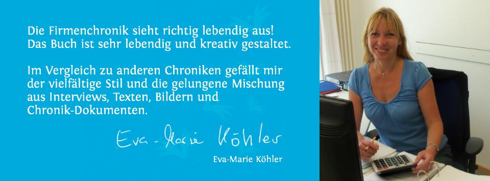 Referenz Vereinsgeschichte Eva-Marie Köhler